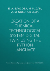 Creation of a chemical-technological system digital twin using the Python language